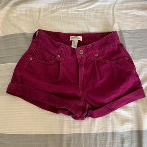 Magenta Jean Shorts